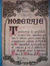 ESPAGNE SUPERBE MANUSCRIT GEOMETRIQUE ESPAGNOL 1930