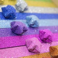 10 DIY Manual Glitter Star Shape Origami Lucky Star Paper Scrip Craft Decor