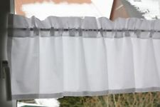 *Deko-Traeume* Kurzgardine Scheibengardine Weiß Uni - B 100 cm - H 38+4 cm*