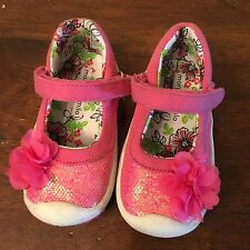Toddler Girls Morgan And Milo Pink Sparkle Mary Janes Shoe Sneakers SZ 5
