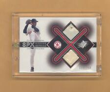 PEDRO MARTINEZ 2001 UPPER DECK SPX GAME USED BASE BALL CARD #D 122/250 RED SOX