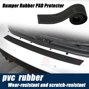 Rear Bumper Guard Protector Trim Cover Sill Plate Trunk Rubber Pad Step Pad