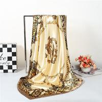 "Women's Leopard Silk Satin Square Scarves Office Fashion Head Shawl scarf 35*35"""