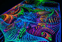 UV Backdrop Wall Hanging Visionary Art Psychedelic Tapestry Festaval Psy Decor