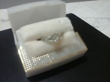 Sterling Silver 3 Stone Cubic Zirconia Ring Size 8
