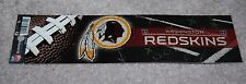 WASHINGTON REDSKINS NFL FOOTBALL SPORTS BUMPER STICKER
