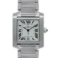 Cartier Tank Francaise Stainless Steel Automatic Mens Watch 2302