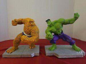 Marvel THING VS INCREDIBLE HULK BOOKENDS Cast Porcelain Reg Edition #138 NIB/COA