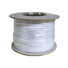 100 meter Drum Roll Of 4 Core Alarm Cable in White Wire Burglar Intruder CCA
