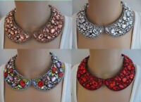 EXCEPTIONAL BLINDING  RUNWAY MULTI HEADLIGHT RUNWAY SHADES OF  COLLAR NECKLACE
