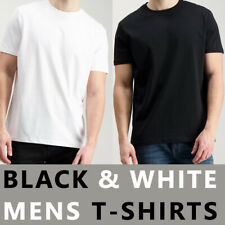 100% Cotton Mens Tee T-Shirt Crew Neck Plain Casual Short Sleeve Tops UK Sizes