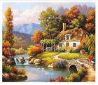 Oil Paint By Numbers Kit Craft DIY Painting On Canvas Frameless Animals Scenery