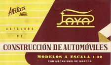 Catalogo PAYA 1960 Construcción de Automóviles - Escala 1:32 Autoescala  SP  aa