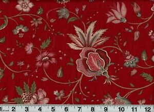French General Fabric #13632 Reproduction Floral OOP Quilt Shop Quality Cotton