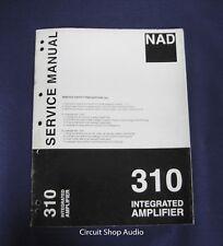 Original NAD 310 Integrated Amplifier Service Manual