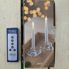 Flameless Sirius Ella heart LED 2 Candle Battery Operate Light Wedding Christmas