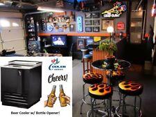 Man Cave Beer Soda Pop Bottle Opener Refrigerator Cooler Garage Storage Fridge