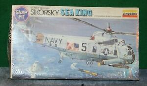 Vintage LINDBERG SIKORSKY SEA KING HELICOPTER KIT  NEW IN FACTORY SEALED BOX