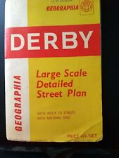 Vintage Derby Large Scale Detailed Street Plan - early 1960s