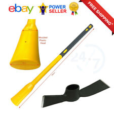 More details for 5lb mattock head with fibreglass pick axe handle 900mm for garden digging tool