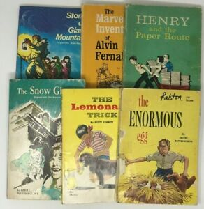 Vintage Scholastic Paperback Children's Books Lot of 6 1960-1974
