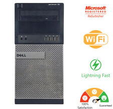 Dell optiplex 790 Intel dual Core 2.7Ghz 250Gb Hdd 4Gb Pc Desktop Computer Win10