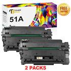 2 Pack Q7551A Toner Compatible For HP 51A LaserJet P3005 P3005d P3005dn M3027