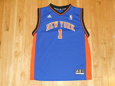 3f6387423 ADIDAS AMARE STOUDEMIRE BLUE NEW YORK KNICKS NBA YOUTH REPLICA JERSEY LRG  14-16