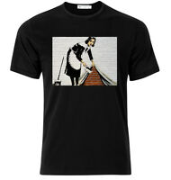 Sweeper - Banksy - Graphic Cotton T Shirt Short & Long Sleeve