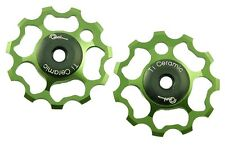 OMNI Racer Ti Ceramic Derailleur Pulleys 9/10 speed Dura Ace Ultegra XTR: GREEN
