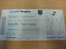 12/08/2000 Rugby Union Ticket: Cardiff Blues v Leicester [Complete] (good condit