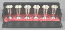"Set of 6 Towle Sterling Silver Cordial Cups Marked Original Box 28g ea 3"" Tall"