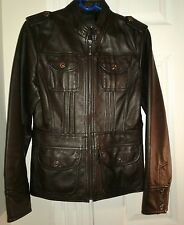 Womans leather jacket kenneth cole size small