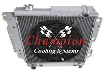 """2 Row Performance Champion Radiator W/ 16"""" Fan for 1997 - 2004 Jeep Wrangler"""