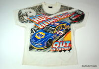 VTG 90s Men's Nascar Ron Hornaday Out in Front Big Logo Graphic T-Shirt Sz XL