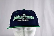 Notre Dame Fighting Irish Black/Green Baseball Hat Cap Snapback