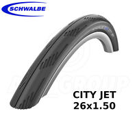 "Schwalbe City Jet MTB/Road Slick, Puncture Protection, Bike Tyre 26"" (26x1.50)"