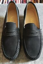 Black Suede Brogue Loafer Shoes Size 5 New
