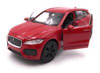 Modellauto Jaguar F-Pace SUV Rot  Auto Maßstab 1:34-39 (lizensiert)