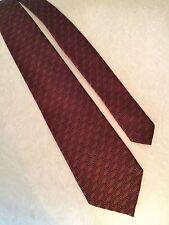 "ANTONIO MIRO Mens Necktie 100% Silk Red/Gold Geometric Classic Barcelona Tie 57"""