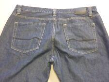 087 MENS EX-COND JAG CLASSIC FIT REG DK BLUE GRAIN JEANS 38 SHORT $120 RRP.