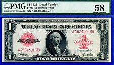 FR-40 1923 $1  (( US Note )) PMG About-UNC 58 ** Minor Rust ** # A45243043B.