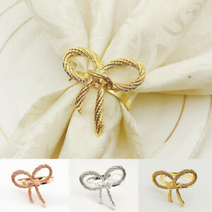 Bow Tie Napkin Rings Dinner Parties Wedding Home Party Tableware Decoration
