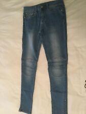 Ladies JeansWest 72 Stretch Faded Denim Blue Skinny Leg 7/8 Length Jeans Size 10