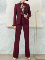 Edas pantalone elegante donna CLUNES pantaloni vita alta taglie forti zampa
