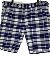 Gant Ruger Men's Size 36 100% Cotton Blue/White/Yellow Adjustable Pleated Shorts