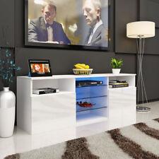 146CM TV Cabinet high gloss TV Unit With Shelves LED Light Living Room furniture