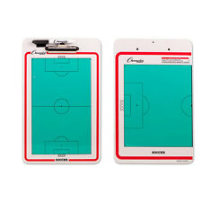 Champion Sports Soccer Coaches Double Sided Dry Erase Clipboard