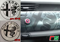 alfa romeo ADESIVI logo cruscotto pre2016/2016 sticker decal cover carbonlook