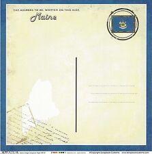 Scrapbook Customs - Maine Postcard Scrapbooking Paper - 36187